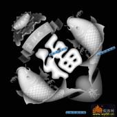 鱼图-吉祥如意-022-蝙蝠鱼浮雕图库