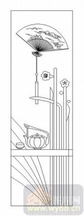 02古文化系列-茶道-00030-喷砂玻璃
