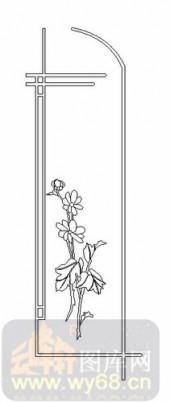 艺术玻璃图-08四扇门(4)-艺术花-00042