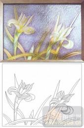 04肌理雕刻系列样图-花卉-00193-玻璃门