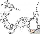 龙-白描图-矫若惊龙-long49-中国白描龙