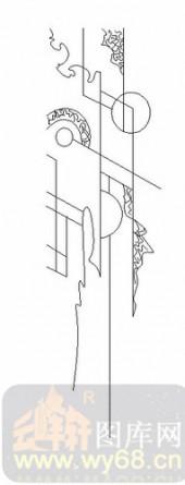 装饰玻璃-06四扇门(2)-抽象图案-00067