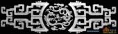横-龙纹-004-浮雕灰度图