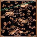 八宝茶几面板-龙凤麒麟蝙蝠雕刻图