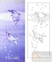 喷砂玻璃-肌理雕刻系列1-海豚-00042