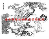 二十四孝-矢量图-06鹿乳奉亲-国画二十四孝图案