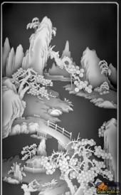 八仙图-虹桥-956-精雕灰度图