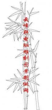 梅兰竹菊-白描图-竹子-mlxj042-梅兰竹菊线描图