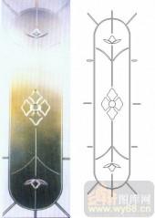 雕刻玻璃-浮雕贴片-花纹-00065