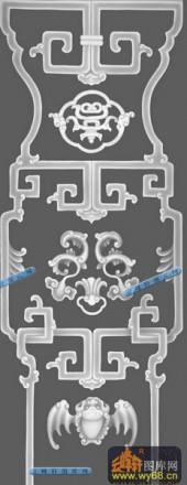 其它图-古典花纹-016-多宝格灰度图