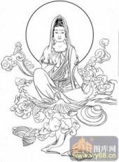 观音-白描图-34蛤蜊观音-1-观音菩萨雕刻图案