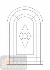 喷砂玻璃-12镶嵌-艺术花纹-00001