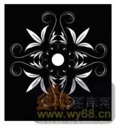 镂空装饰组合式-优美花卉-镂空装饰组合式-046-玄关隔断