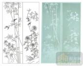 2011设计艺术玻璃刻绘-竹菊-玻璃门