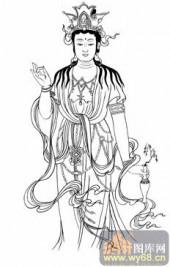 观音-白描图-44观音菩萨法像-观音菩萨国画白描