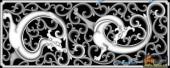 草龙-龙舞-087-雕刻灰度图
