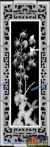 01-翠竹-086-花鸟灰度图