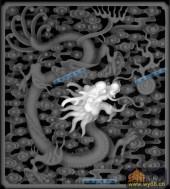 02-蟠龙-052-龙凤浮雕图库