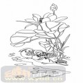 雕刻玻璃图案-06四扇门(2)-鸳鸯-00025