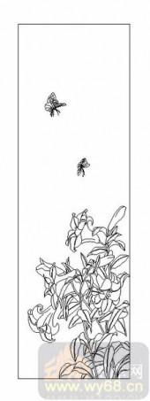 04花草禽鸟-蝶恋花-00048-装饰玻璃