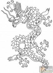 龙-白描图-飞龙在天-long52-龙白描