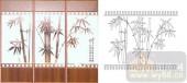 艺术玻璃图库-滑动门系列2-竹子-00090