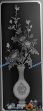 01-花瓶-029-花鸟灰度图案