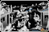 综合-琴棋书画-中间-琴棋书画浮雕灰度图