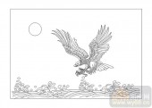 01传统系列-养鹰�r去-00054-玻璃雕刻