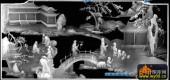百子图002-四童与书棋-百子图精雕灰度图
