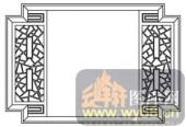 镂空装饰组合式-古典窗扇-镂空装饰组合式-007-镂空花纹矢量图