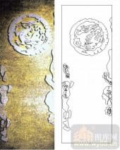 玻璃门-肌理雕刻系列1-浮日龙-00025