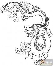 龙-白描图-矫若游龙-long18-龙白描