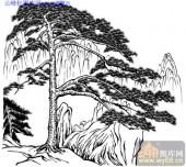 2010.4.3迎客松-白描图-广迎四海-yks025-迎客松白描图