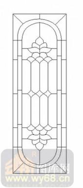 装饰玻璃-12镶嵌-欧式花纹-00048
