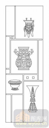 02古文化系列-陶器-00108-玻璃雕刻
