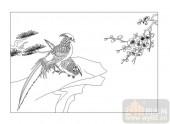 04花草禽鸟-驿寄梅花-00017-艺术玻璃图库