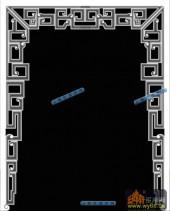 草龙-龙纹-071-龙凤灰度图案