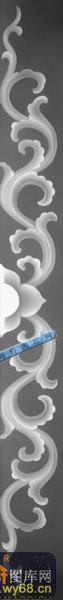 办公桌002-传统花纹-076-办公桌灰度图