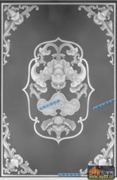 其它图-蝙蝠纹-020-多宝格灰度图
