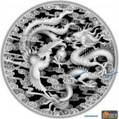 龙凤图-龙凤呈祥-014-雕刻灰度图