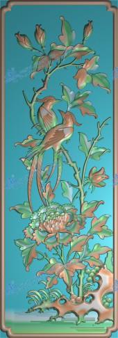 花鸟餐椅背板