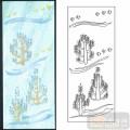 04装饰门-4-小叶树飞鸟-00117-喷砂玻璃图库