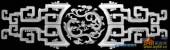 古董架002-龙纹-002-古董架灰度图案
