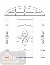 装饰玻璃-12镶嵌-对称花纹-00047