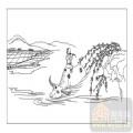 装饰玻璃-06传统壁画大屏风-水牛-00002