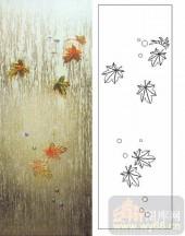 07精雕冰凌系列样图-枫叶-00003-喷砂玻璃图库