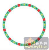122种圆形边框矢量-红绿相间-120种圆形边框矢量-049-玄关柜