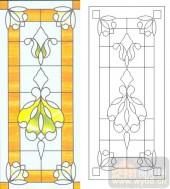 06欧式装饰系列样图-黄色花纹-00010-雕刻玻璃