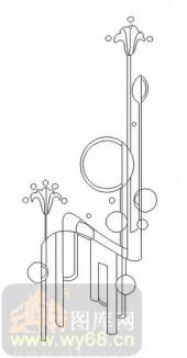雕刻玻璃-08四扇门(4)-艺术花-00033